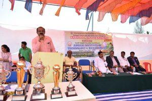 Inauguration of VTU Belagavi Zone Kabaddi Tournament.