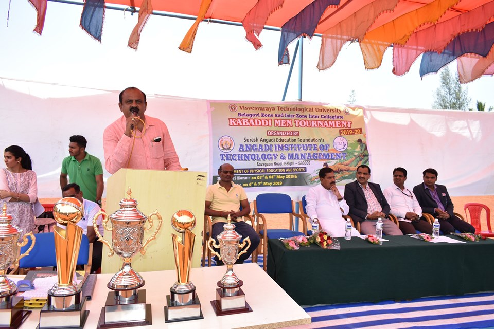 Inauguration of VTU Belagavi Zone Kabaddi Tournament.